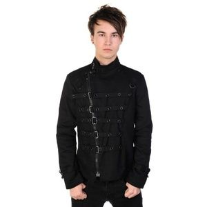 Mens Banned Metal Cuff jacket punk goth hot topic